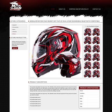 MO2 Helmets eBay listing template design