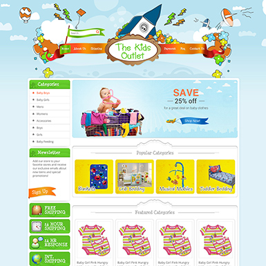 The Kids Outlet ebay store design