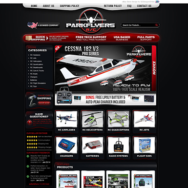 Park Flyers ebay store design