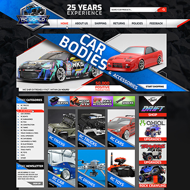 RC World ebay store design