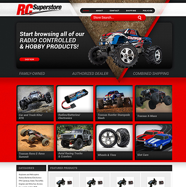 RC Superstore ebay store design