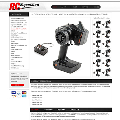 RC Superstore ebay listing template design