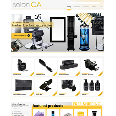 Salon CA ebay store design