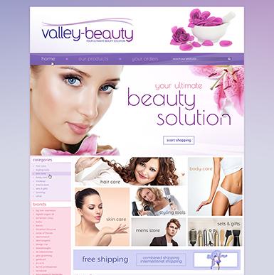 Valley Beauty ebay store design