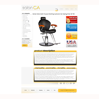 Salon CA listing template design