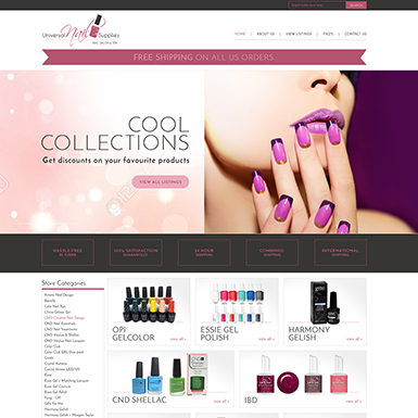 Universal Nail Supply ebay store design